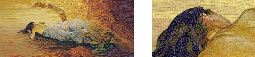 Мозаичное панно на стену